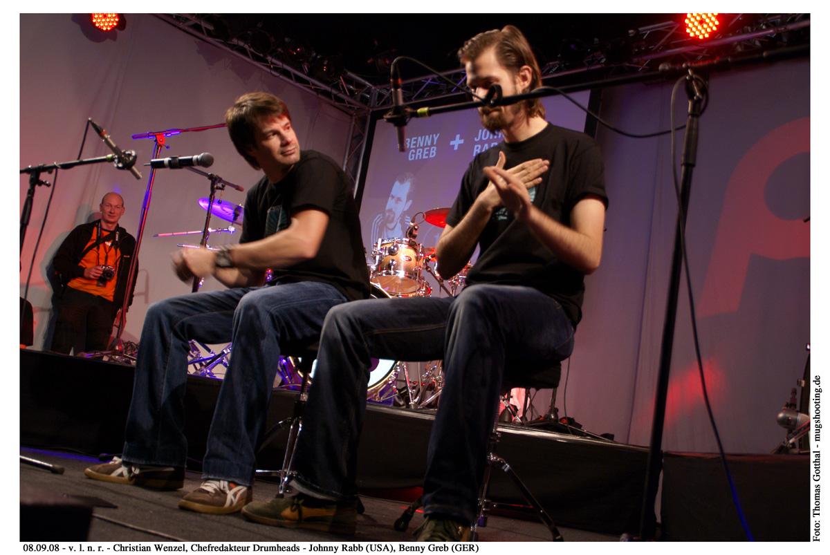 2008 - Meinl Drum Festival (Christian Wenzel, Chefredakteur)