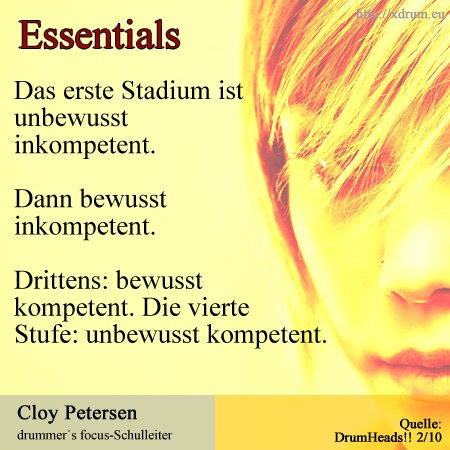 Essentials: Cloy Petersen (drummer´s focus)