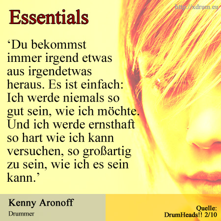 Essentials - Kenny Aronoff (DrumHeads!!)