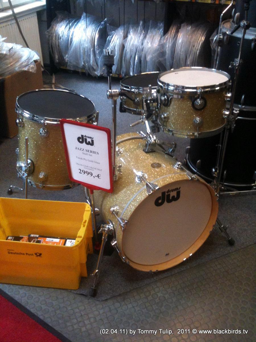 dw-Schlagzeug, golden sparkle