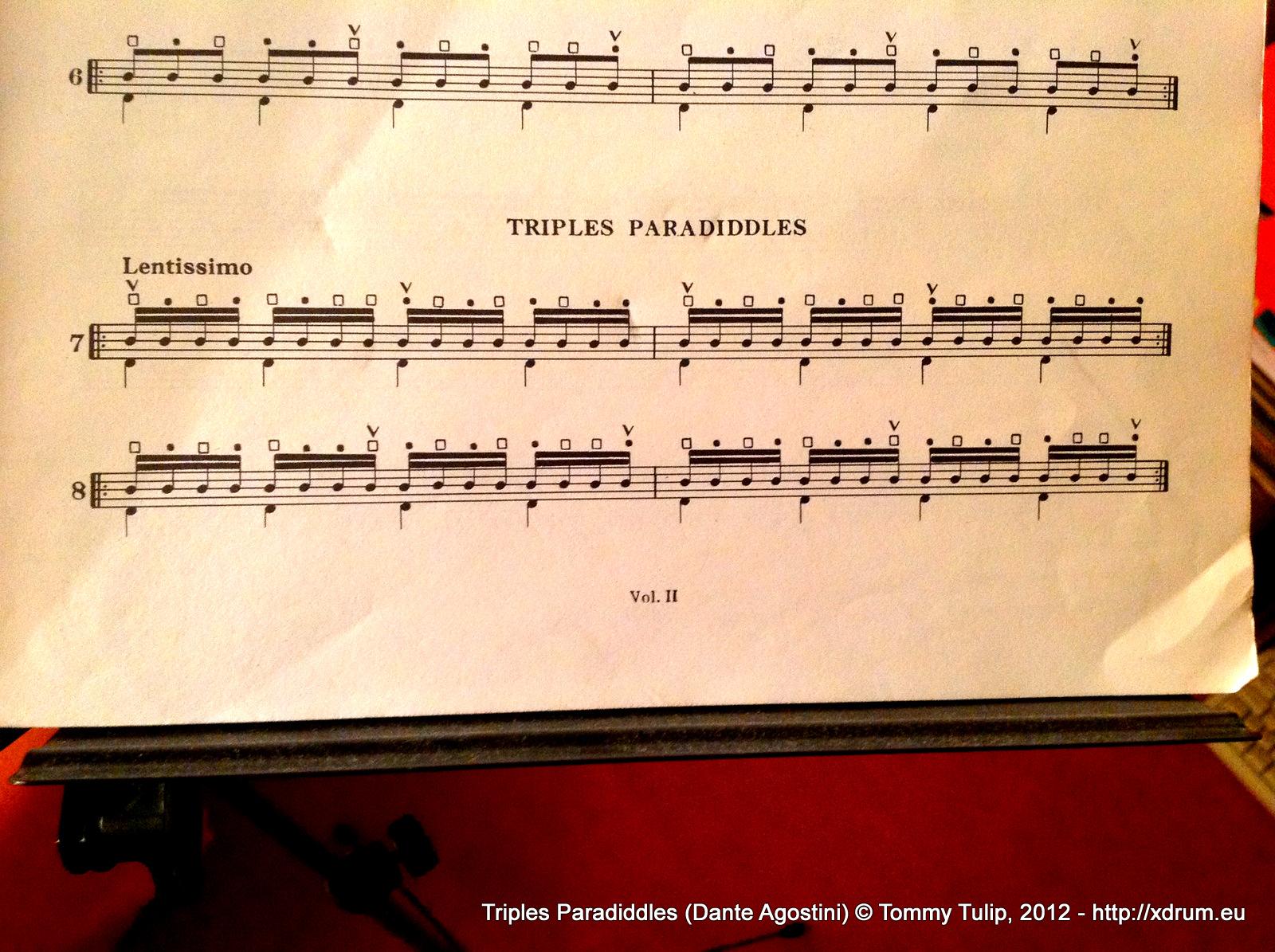 Triples Paradiddles (Dante Agostini)