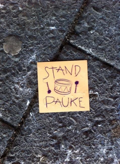 Standpauke (Foto: Stefan Korth)