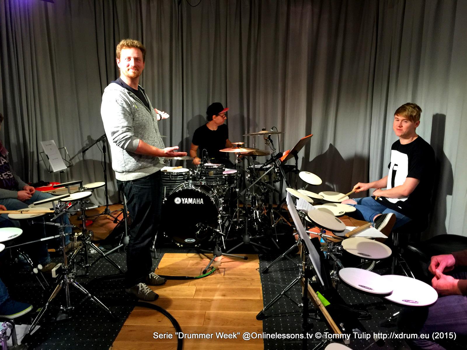 Florian Alexandru-Zorn (vorn) und Ralf Gustke (hinten) Drummer Week 10.15 Onlinelessons.tv