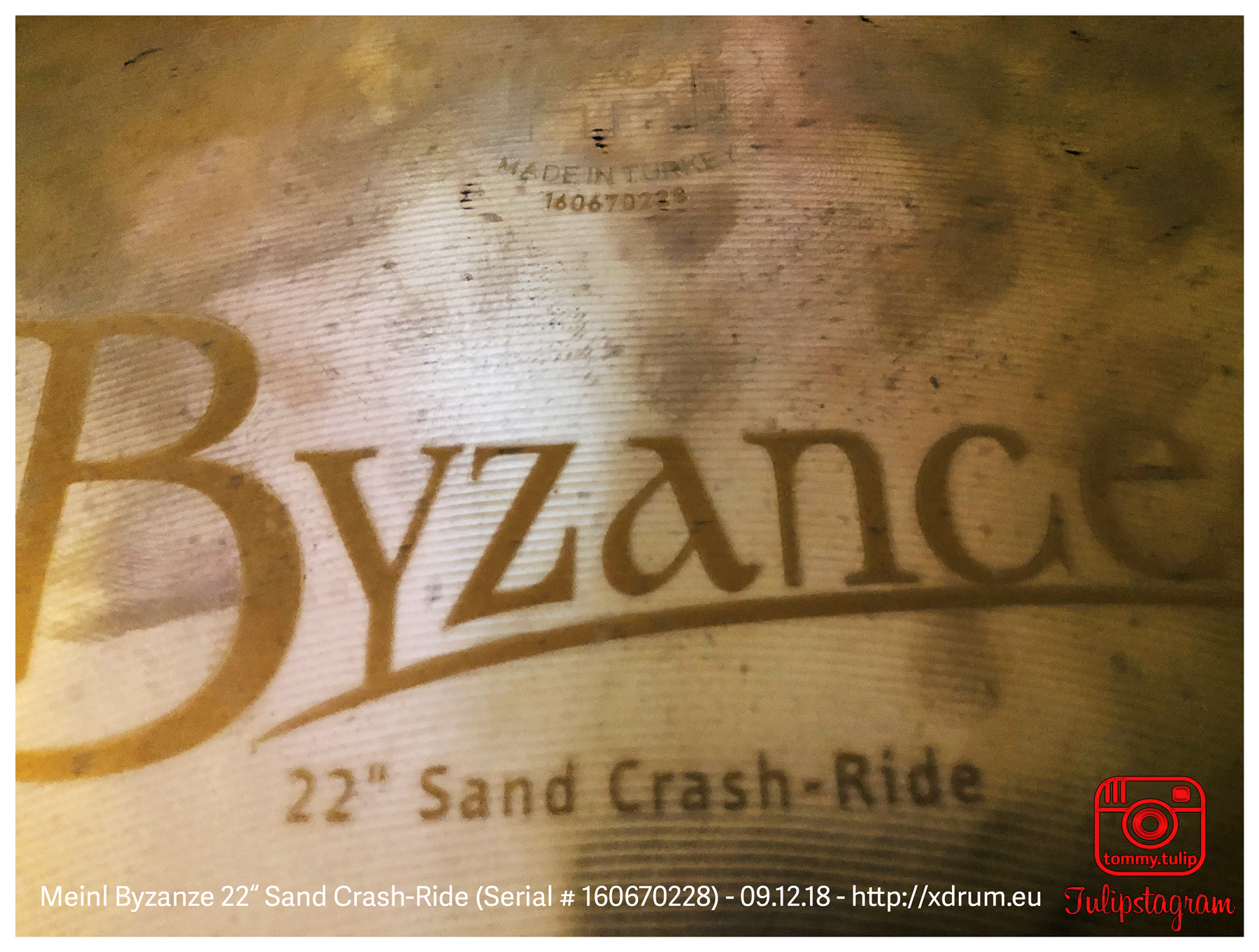 "Meinl Sand Crash-Ride 22"" (Serial # 160670228) - 09.12.18 (© #TTT)"
