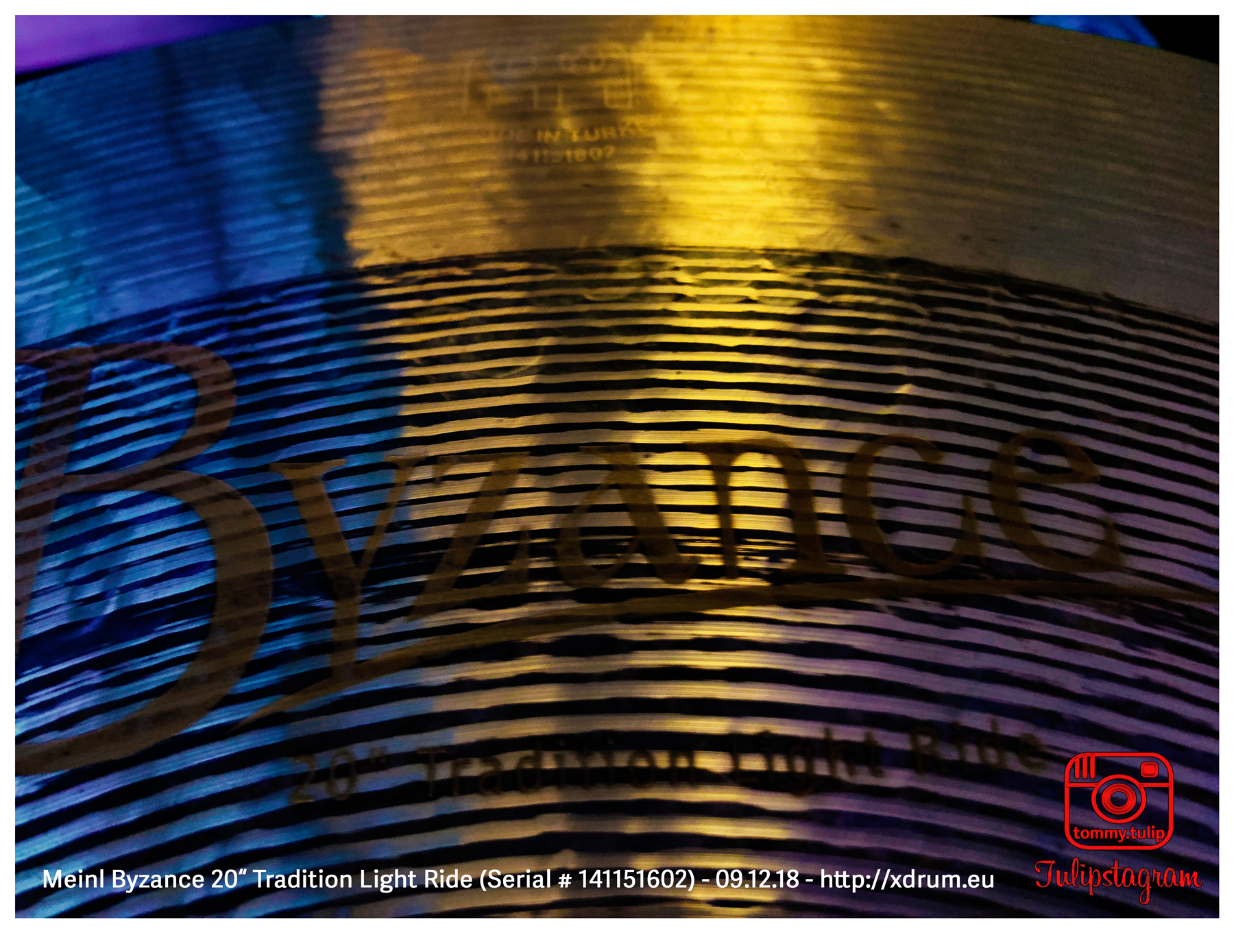 "Meinl Byzance 20"" Tradition Light Ride (Serial # 141151602) - 09.12.18 (© #TTT)"