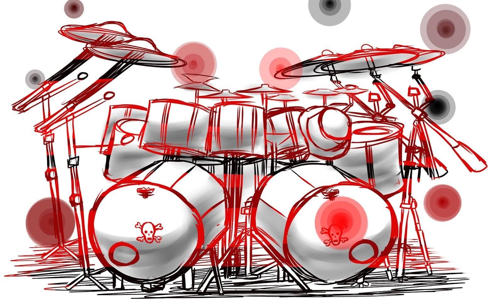 Drums, Schlagzeug (Zeichnung) - Quelle: unbekannt (März 2014, VÖ: 05.01.19)