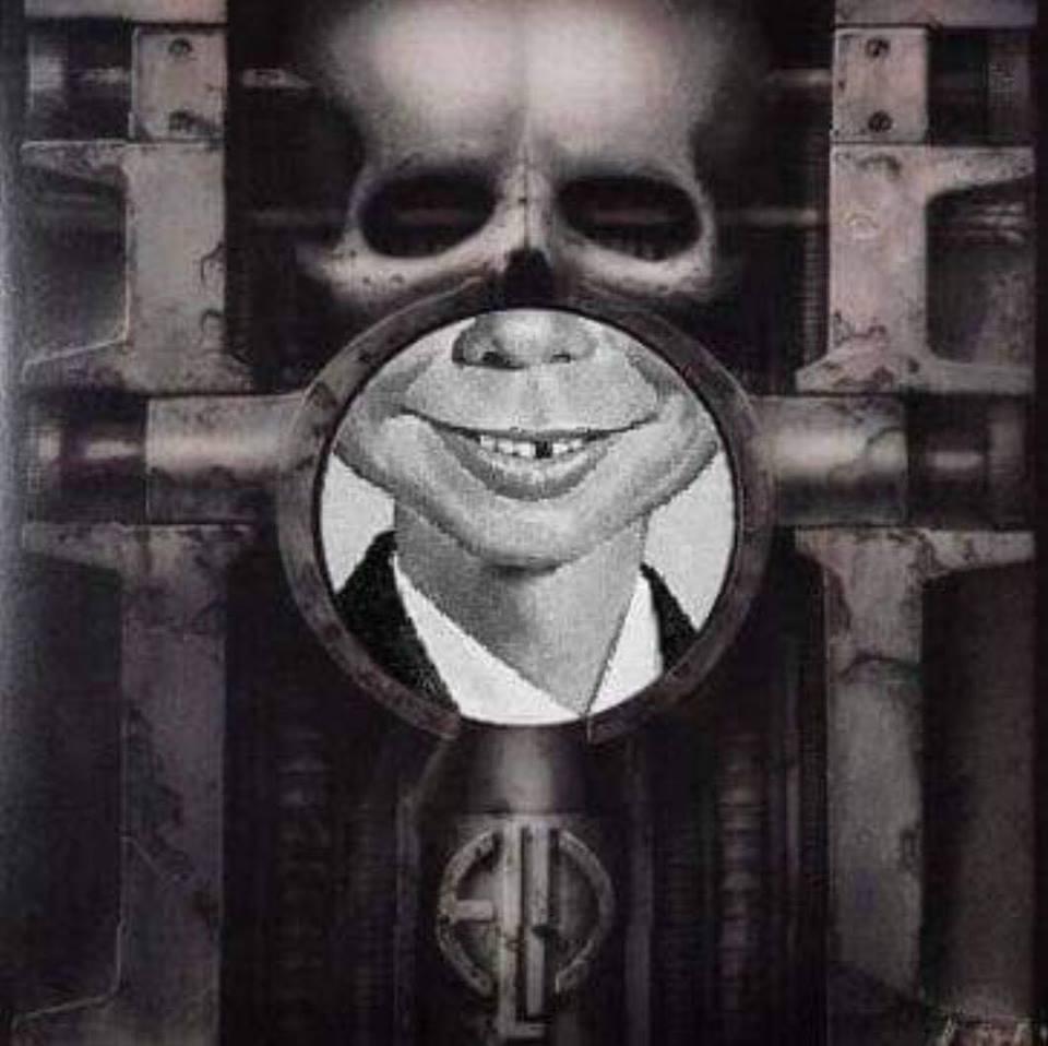 Brain Salad Surgery Meshup Alfred E. Neumann (MAD) - Quelle: Internet/Fotomontage