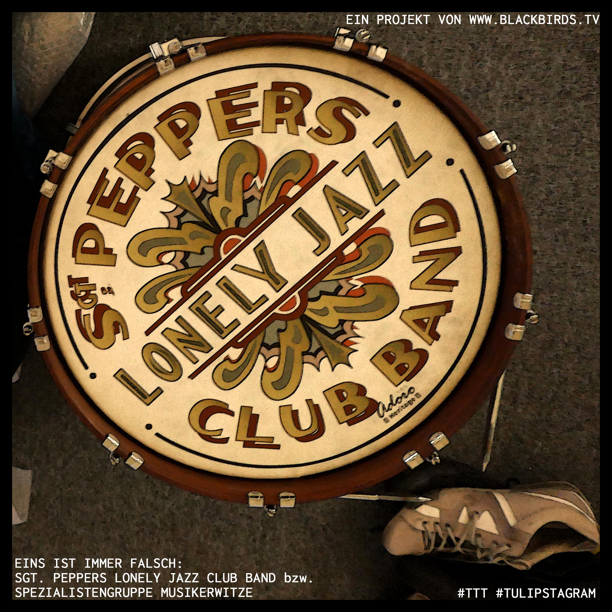 Eins ist immer falsch: Sgt. Peppers Lonely Jazz Club Band bzw. Spezialistengruppe Musikerwitze (Facebook) #TTT #Tulipstagram