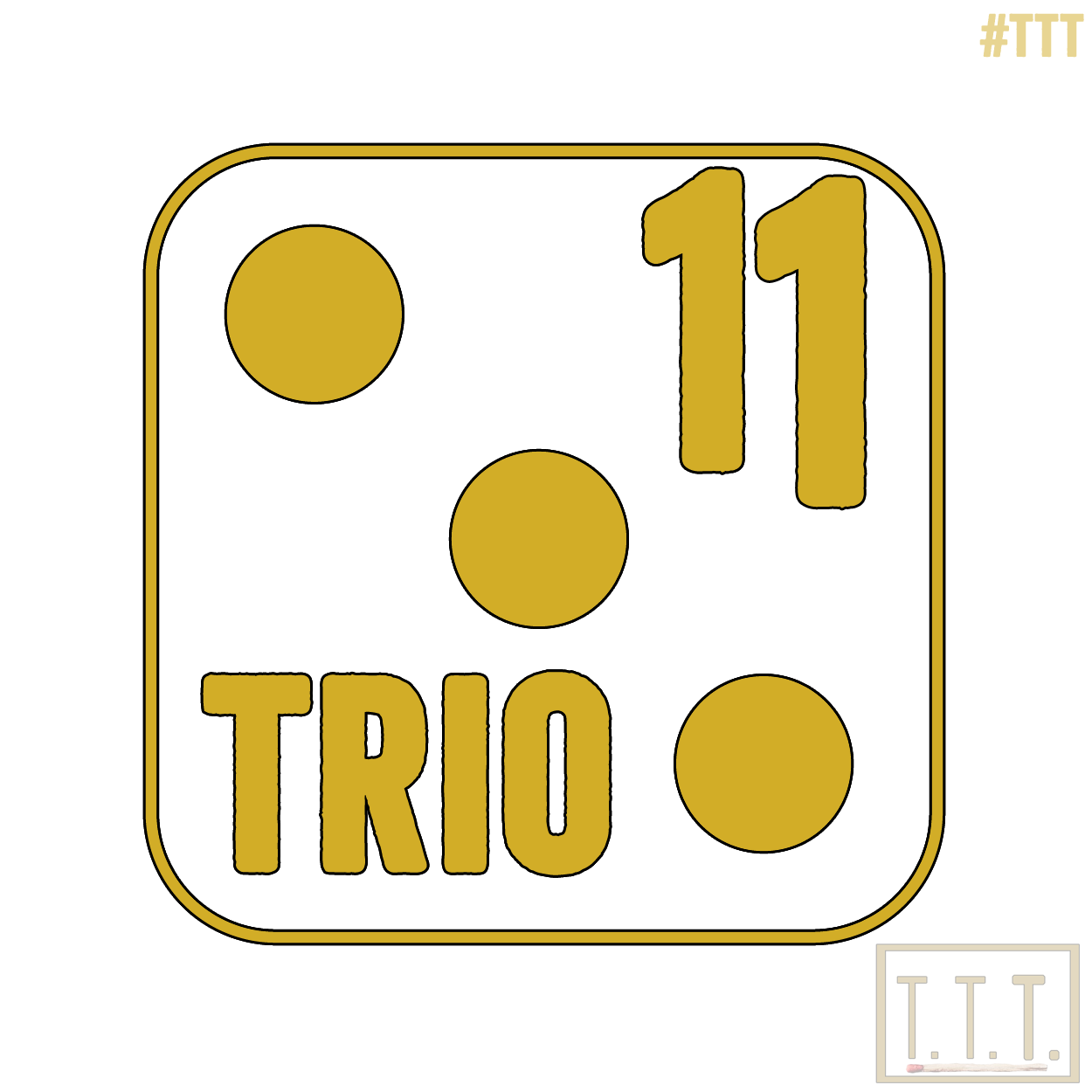 "Trio Elf ""11"" Logo (transparent) by #TTT #drafts"