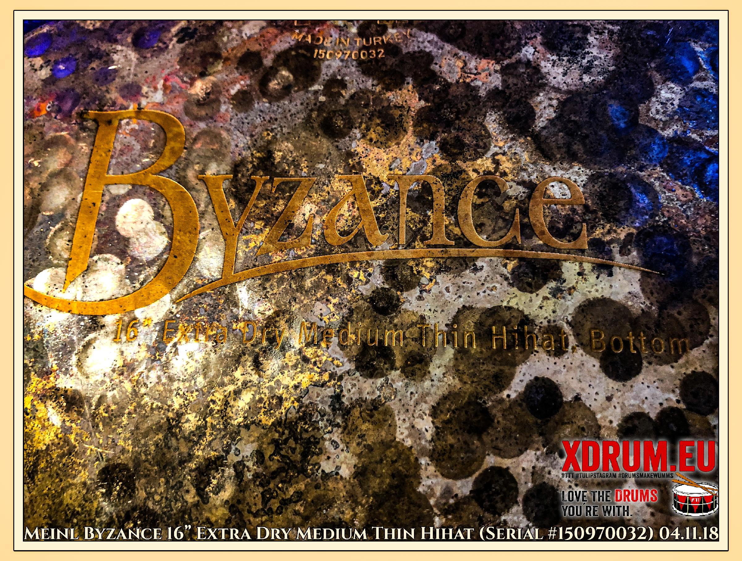 "Meinl Byzance 16"" Extra Dry Medium Thin Hihat (Serial #150970032) 04.11.18"