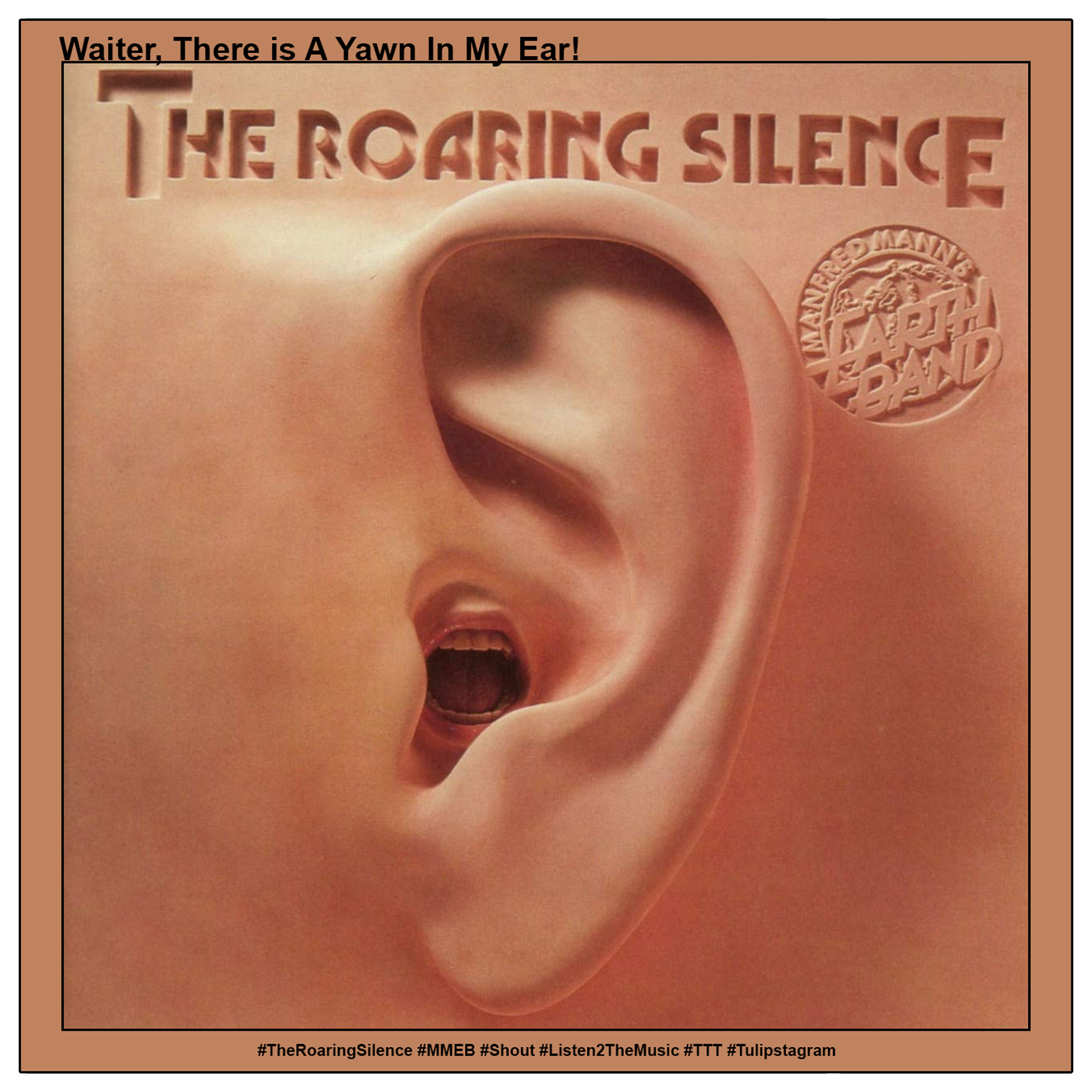 Waiter, There Is A Yawn In My Ear #TheRoaringSilence #MMEB #Shout #Listen2TheMusic #TTT #Tulipstagram